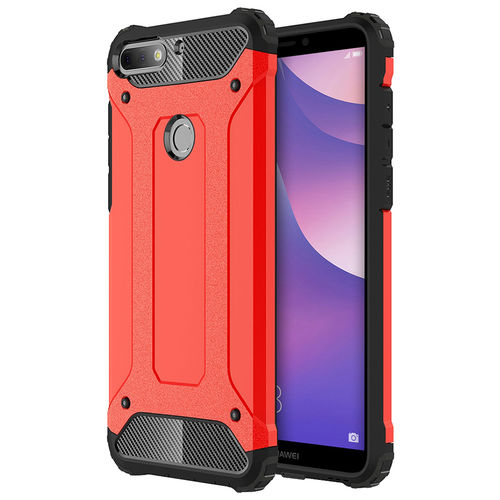 Military Defender Shockproof Case for Huawei Nova 2 Lite - Red